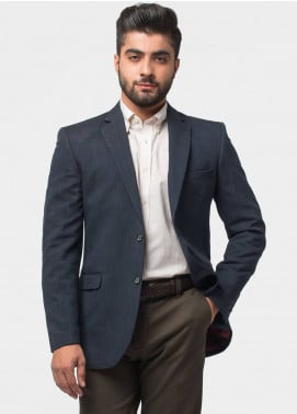 Brumano Cotton Casual Men Blazer - Navy Blue BLZ-511