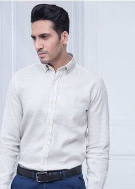 Brumano Linen Formal Shirts for Men   Beige BRM 183