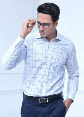 Brumano Cotton Formal Shirts for Men   Blue BRM 187