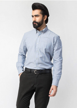 Brumano Cotton Formal Shirts for Men   Blue BRM 446