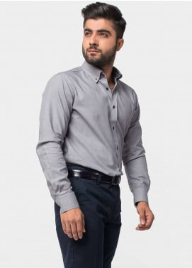 Brumano Cotton Formal Shirts for Men   Grey BRM 482