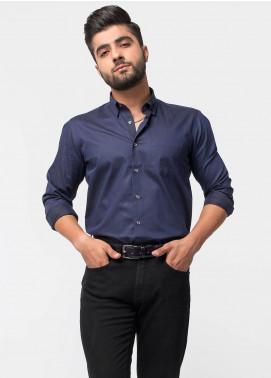 Brumano Cotton Formal Men Shirts   Navy Blue BRM 486