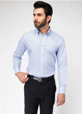 Brumano Cotton Formal Shirts for Men   Blue BRM 489