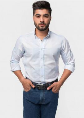 Brumano Cotton Formal Shirts for Men - Blue BRM-538