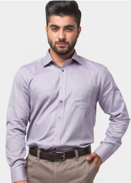 Brumano Cotton Formal Men Shirts - Purple BRM-543