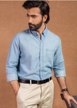 Brumano Cotton Formal Shirts for Men - Blue BRM-551