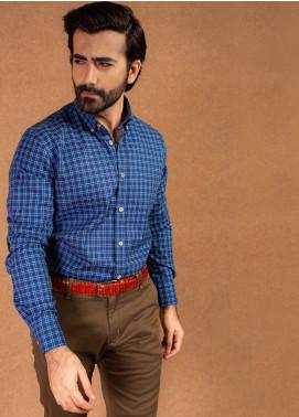 Brumano Cotton Formal Shirts for Men - Blue BRM-563