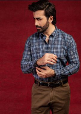Brumano Cotton Formal Men Shirts - Blue BRM-570