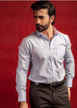Brumano Cotton Formal Men Shirts - Grey BRM-608