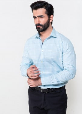 Brumano Cotton Formal Men Shirts - Mint Green BRM-643
