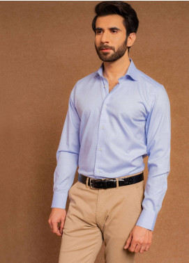 Brumano Cotton Formal Shirts for Men - Blue BRM-663