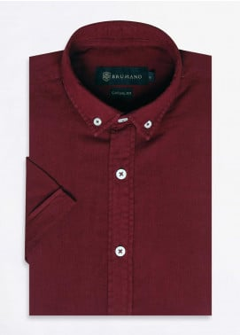 Brumano Cotton Formal Shirts for Men -  BRM-668-Maroon