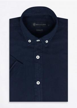 Brumano Cotton Formal Men Shirts -  BRM-668-Navy