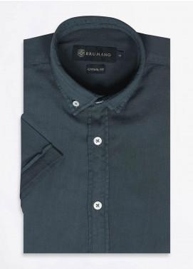 Brumano Cotton Formal Shirts for Men -  BRM-668-Olive