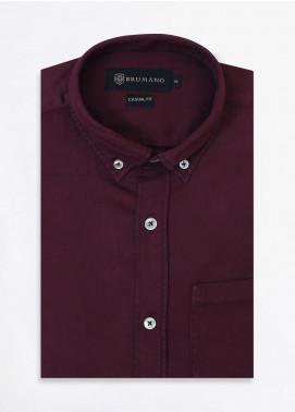 Brumano Cotton Formal Shirts for Men -  BRM-852-Burgundy