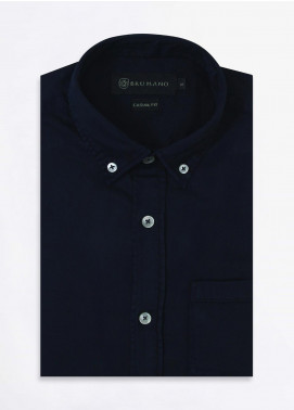 Brumano Cotton Formal Shirts for Men -  BRM-852-Navy
