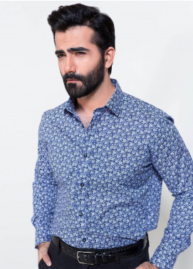 Brumano Cotton Formal Shirts for Men - Blue BRM-864