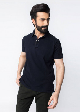 Brumano Cotton Polo Men Shirts - Navy Blue BRM-41-406-Navy