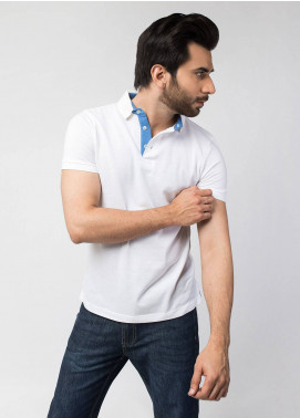 Brumano Cotton Polo Shirts for Men - White BRM-44-021
