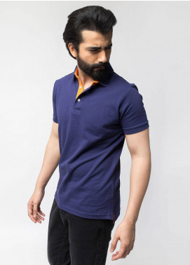 Brumano Cotton Polo Men Shirts - Navy Blue BRM-44-350