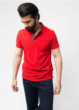 Brumano Cotton Polo Shirts for Men - Red BRM-44-740
