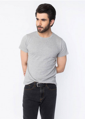 Brumano Cotton Casual T-Shirts for Men - Grey BRM-42-993