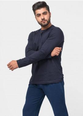 Brumano Cotton Casual Men T-Shirts - Navy Blue BRM-43-0059