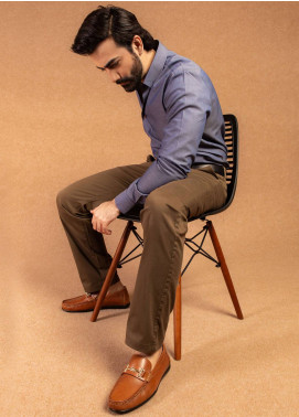 Brumano Cotton Formal Pants for Men -  BRM-008 Brown