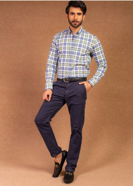 Brumano Cotton Formal Pants for Men -  BRM-555-Navy