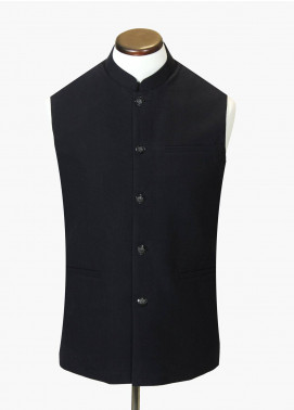 Brumano Cotton Formal Waistcoat for Men - Black BRM-688