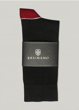 Brumano Cotton Socks BM20CSK Black & Maroon Cotton Socks