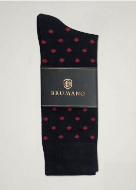 Brumano Cotton Socks BM20CSK Black Polka Dot Cotton Socks