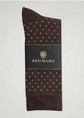 Brumano Cotton Socks BM20CSK Brown Cotton Socks