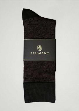 Brumano Cotton Socks BM20CSK Cotton Socks Brown with Black