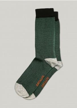 Brumano Cotton Socks BM20CSK Green & Black Dobby Cotton Socks