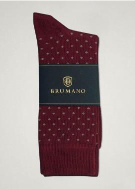 Brumano Cotton Socks BM20CSK Maroon Cotton Socks