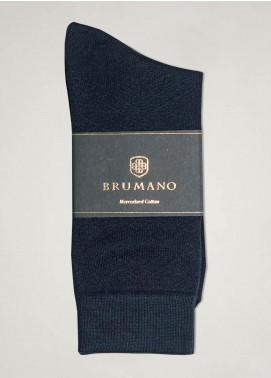 Brumano Cotton Socks BM20SK Navy Mercerized Patterned Socks