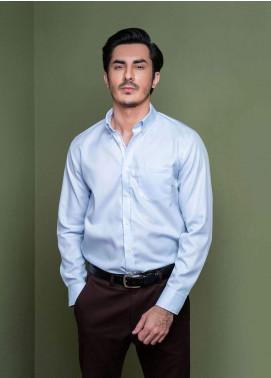 Brumano Cotton Formal Men Shirts -  BM20SH Blue Pinstriped Button Down Shirt