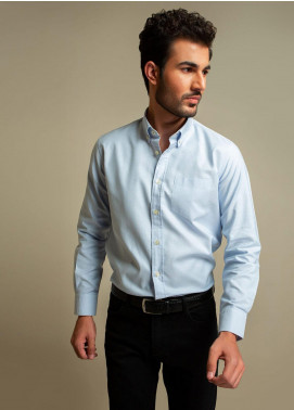 Brumano Cotton Formal Shirts for Men -  BM20SH Classic Blue Oxford Shirt