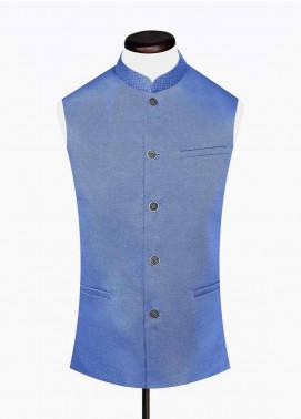 Brumano Cotton Formal Waistcoat for Men -  BM20WC Blue Structured Waistcoat
