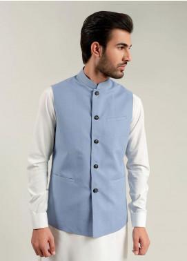 Brumano Cotton Formal Men Waistcoat -  BM20WC Light Blue Waistcoat