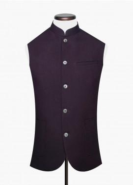 Brumano Cotton Formal Waistcoat for Men -  BM20WC Maroon Structured Waistcoat
