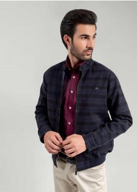 Brumano Polyester Full Sleeves Jackets for Men -  BM20WJ Blue Checkered Harrington Jacket