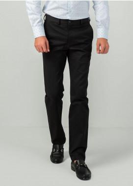 Brumano Cotton Formal Men Trousers -  BM20WP Black Broken Twill For Trouser 1907-0031