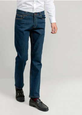 Brumano Cotton Casual Jeans for Men -  BM20WP Blue Slim Fit Jeans With Detailing