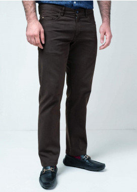 Brumano Cotton Formal Men Trousers -  BM20WP Brown Five Pocket Trouser
