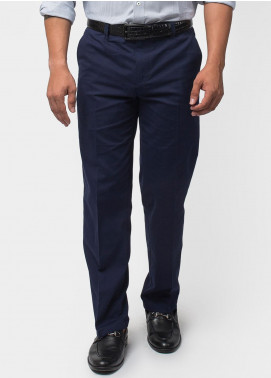 Brumano Cotton Formal Men Trousers -  BM20WP Ink Blue Twill Trouser