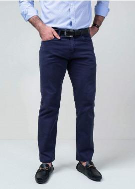 Brumano Cotton Formal Trousers for Men -  BM20WP Navy Blue Five Pocket Trouser