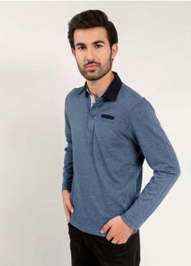 Brumano Cotton Polo Shirts for Mens - Black BM20PW Navy Blue Mercerized