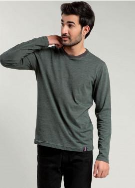 Brumano Cotton Full Sleeves T-Shirts for Men -  BM20WT Olive Neppy Long Sleeve T-shirt